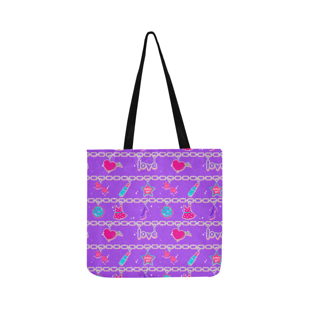 CHARMED TOTE BAG- purple