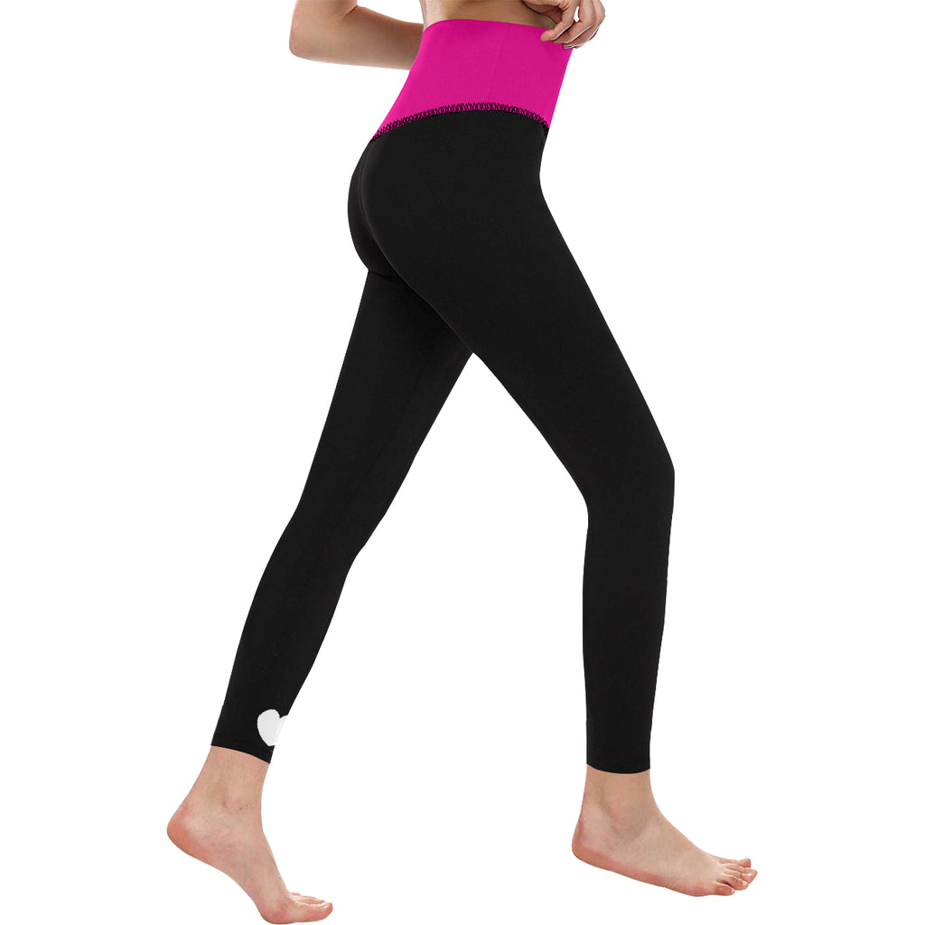 HIGH WAIST YOGA LEGGINGS - PINK