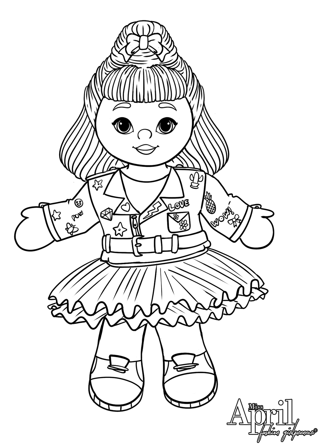 ***FREE DOWNLOAD*** Miss April Coloring Page