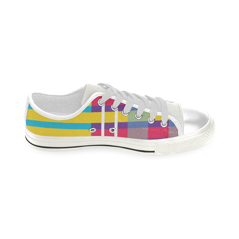 MERRY PLAID TOP CANVAS GIRLS' SNEAKERS