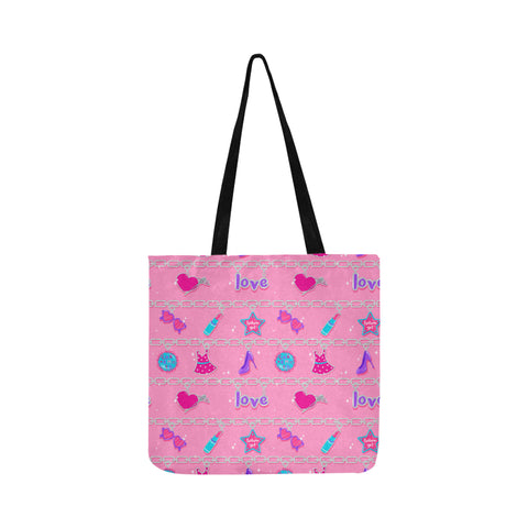 CHARMED TOTE BAG- pink