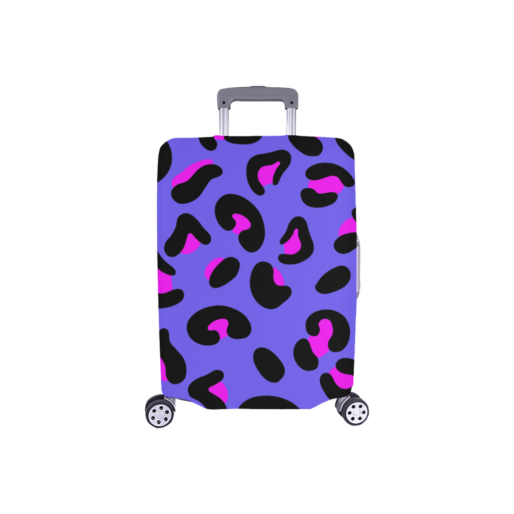 FASHION GIRL GRAFFITI PURPLE LUGGAGE COVER - SMALL