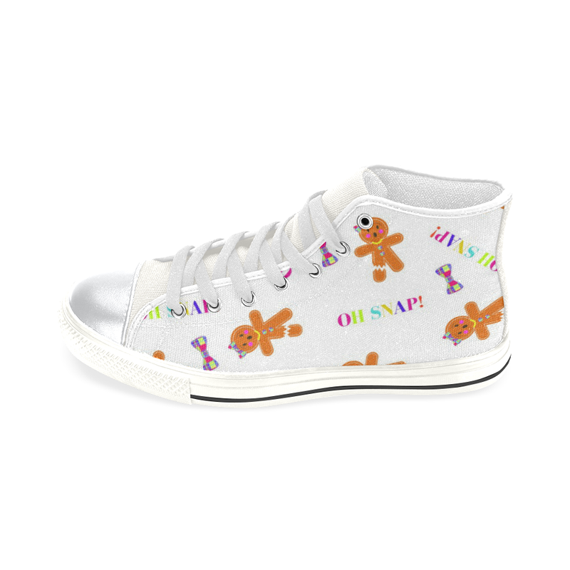 OH SNAP! HIGH TOP CANVAS SNEAKERS FOR KIDS