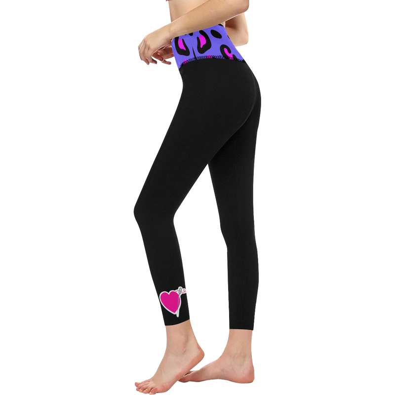 PURPLE LEOPARD HIGH WAIST YOGA LEGGINGS