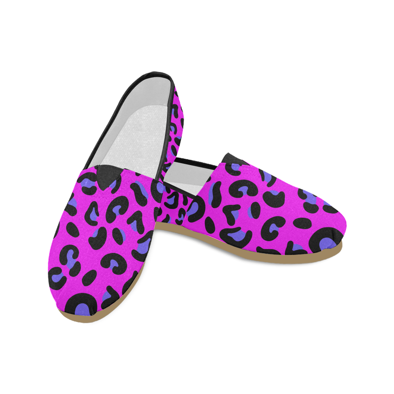 PINK LEOPARD CASUAL SLIP ON CANVAS SHOE (sz 4.5-14)