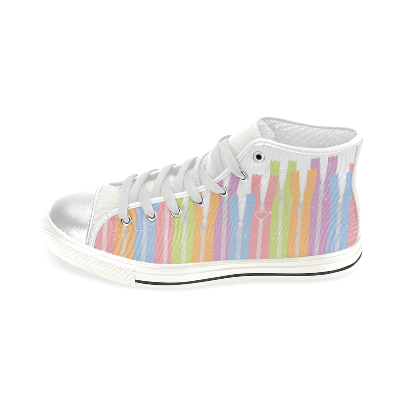 GIRLY ZIPPERS HIGH TOP CANVAS GIRLS' SNEAKERS