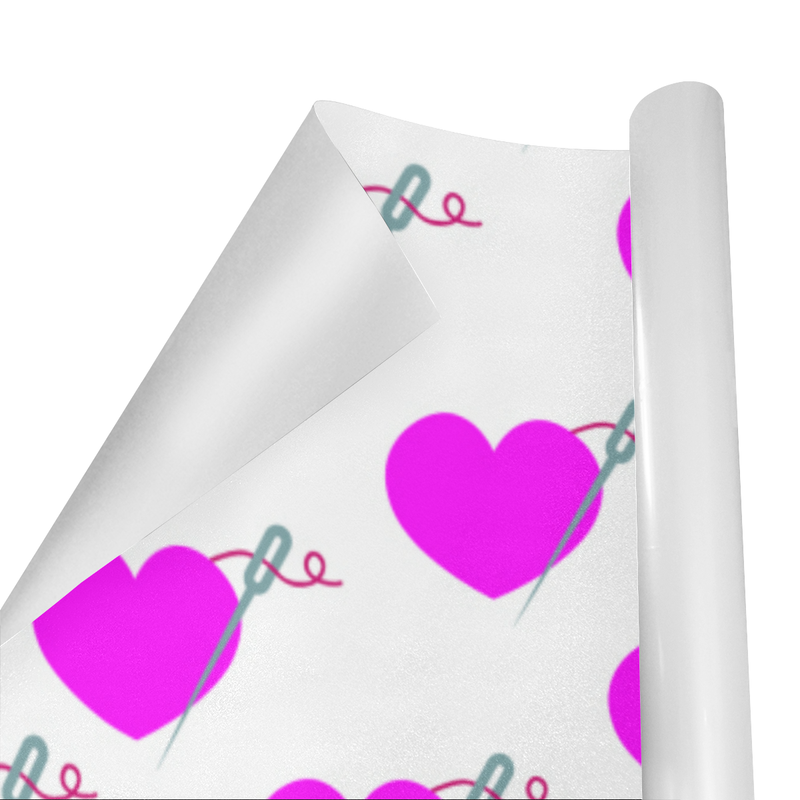 HEART AND NEEDLE WRAPPING PAPER