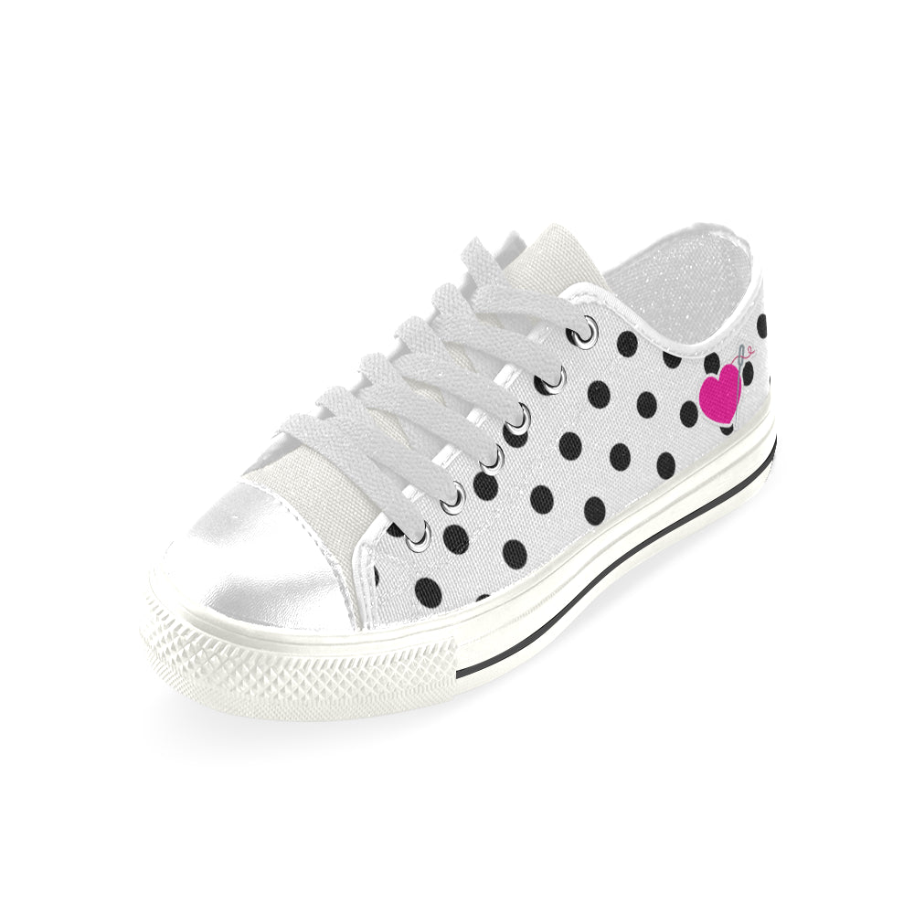 POLKA LIKE A DOT LOW TOP CANVAS GIRLS' SNEAKERS