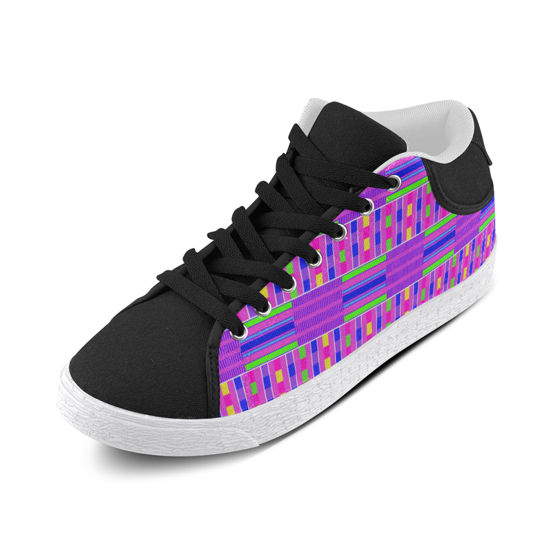 KUTE KENTE MID TOP CANVAS GIRLS' SNEAKERS (sz 5-11)