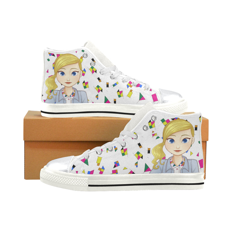 MISS BIANCA HIGH TOP CANVAS GIRLS' SNEAKERS