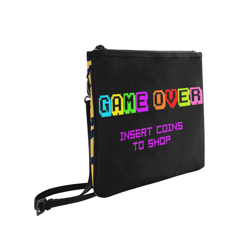 GAME OVER SLIM CROSS BODY PURSE