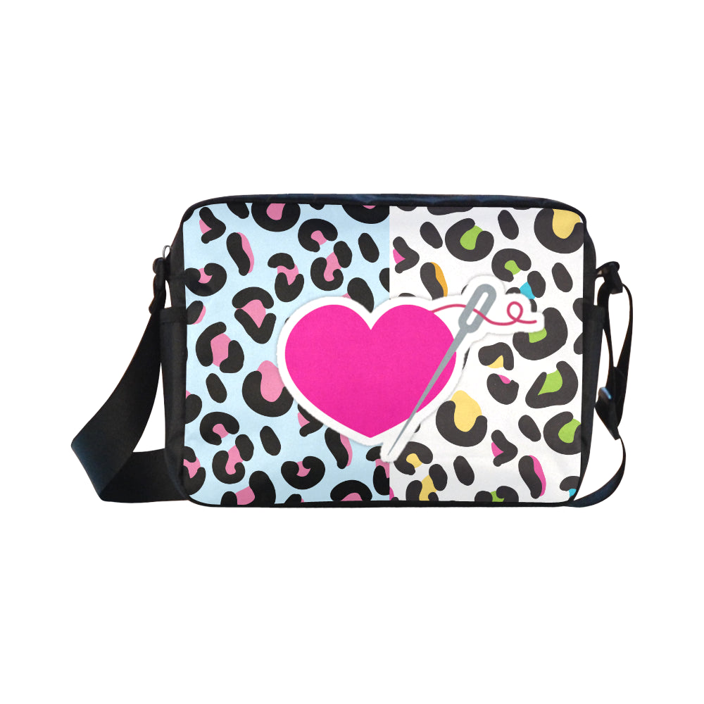MIXIE LEOPARD SMALL MESSENGER BAG