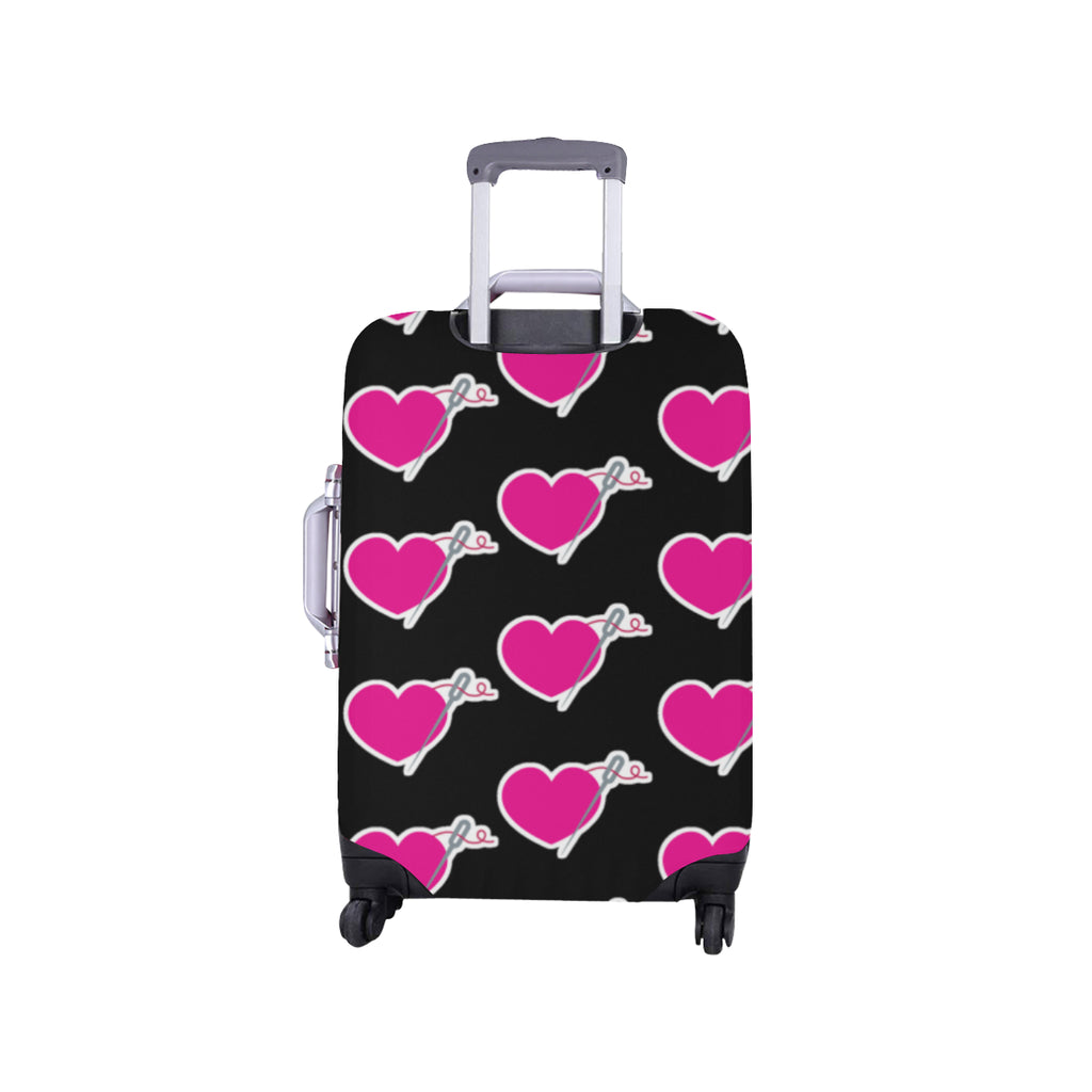 HEART AND NEEDLE LUGGAGE COVER - SMALL