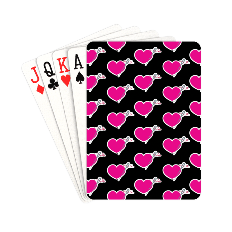 HEART AND NEEDLE PLAYING CARDS