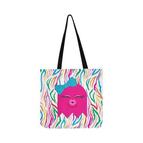 HEY BOO TRICK OR TREAT TOTE BAG- PINKY