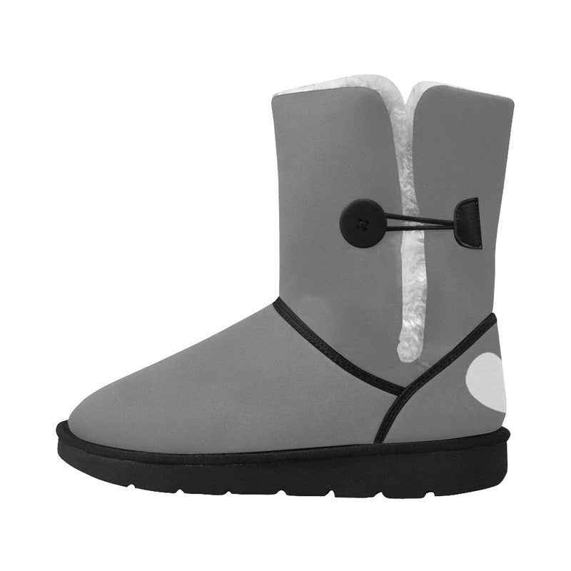 GRAY BUTTON HEART AND NEEDLE WOMEN'S SNOW BOOT