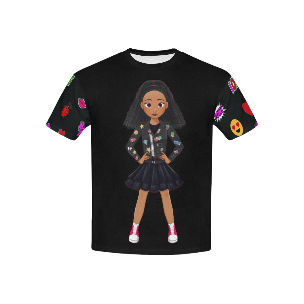 MISS APRIL EMOJI DESIGNER KIDS' TEE