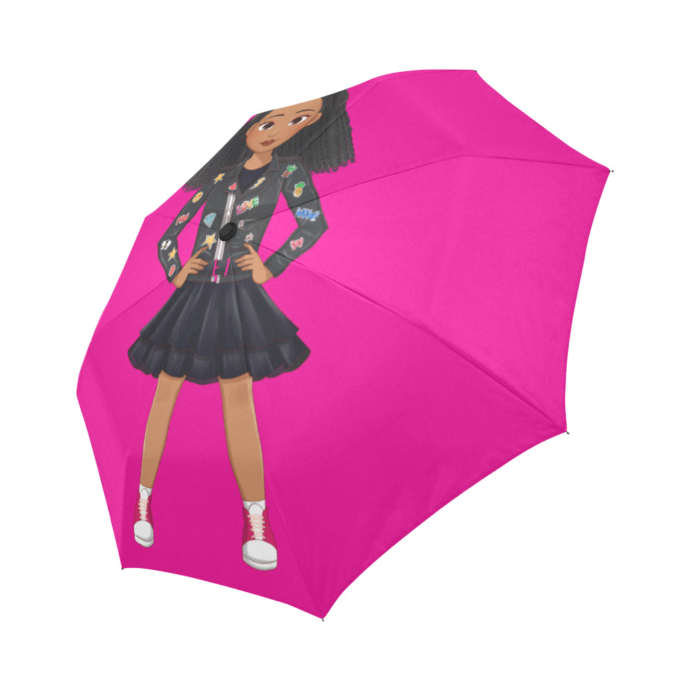 BEST FASHION FRIENDS AUTO FOLDING UMBRELLA- 4 STYLES