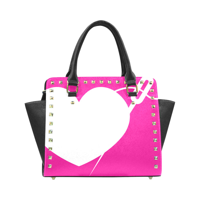 HEART AND NEEDLE LUXE RIVET HANDBAG