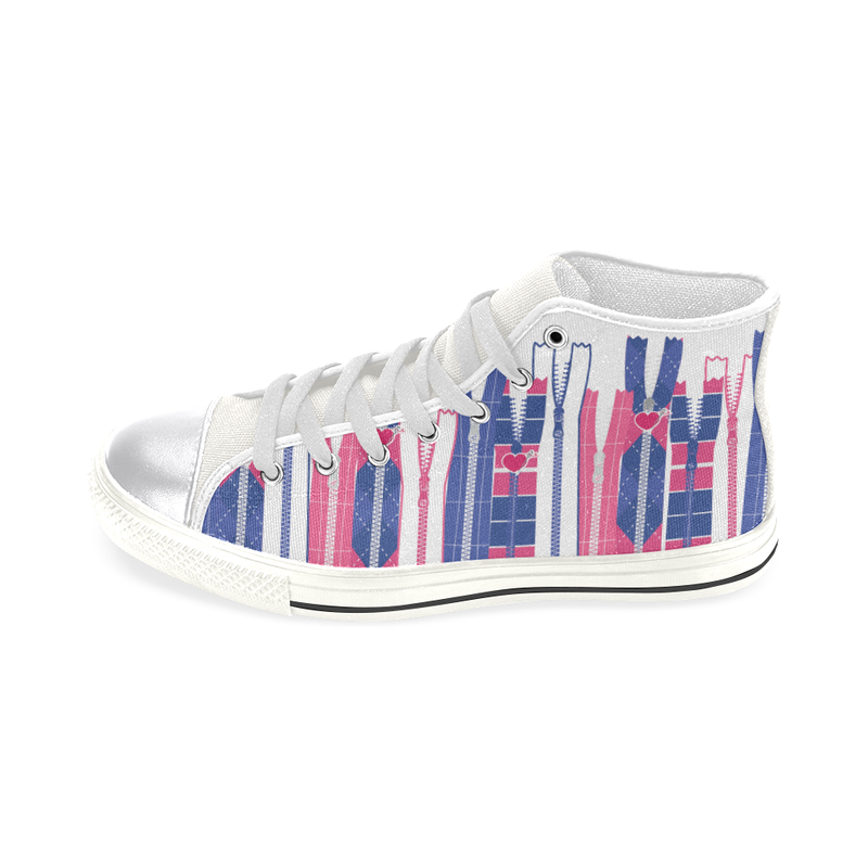 PREPPY ZIPPERS HIGH TOP CANVAS GIRLS' SNEAKERS