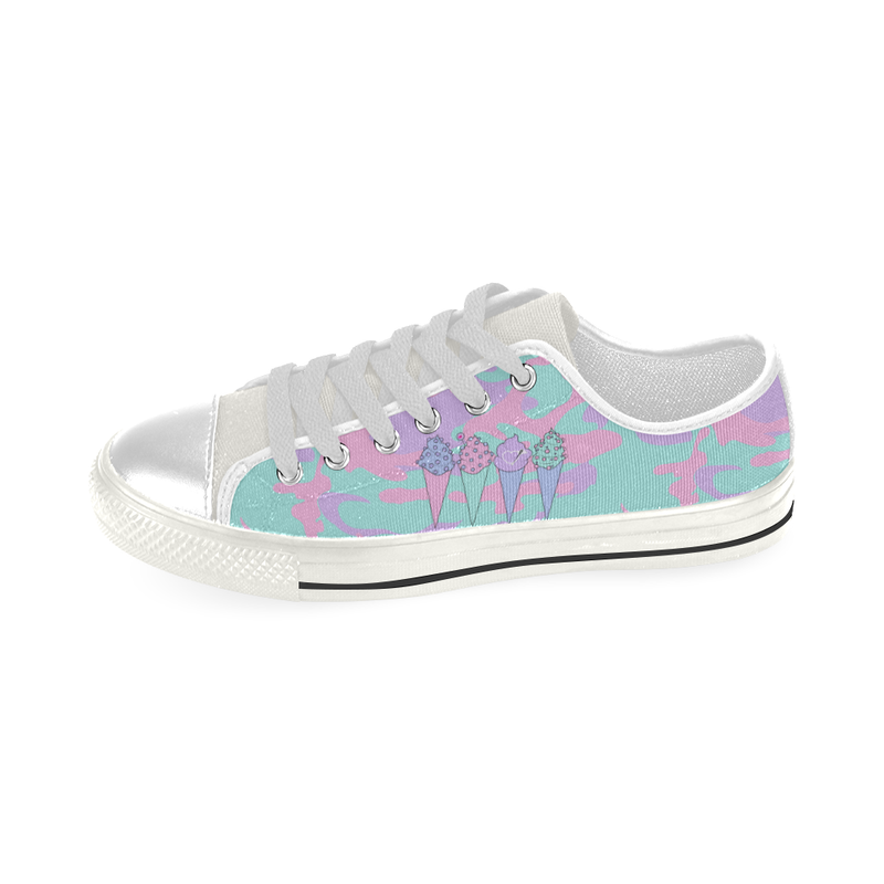 I SCREAM FASHION LOW TOP CANVAS GIRLS' SNEAKERS