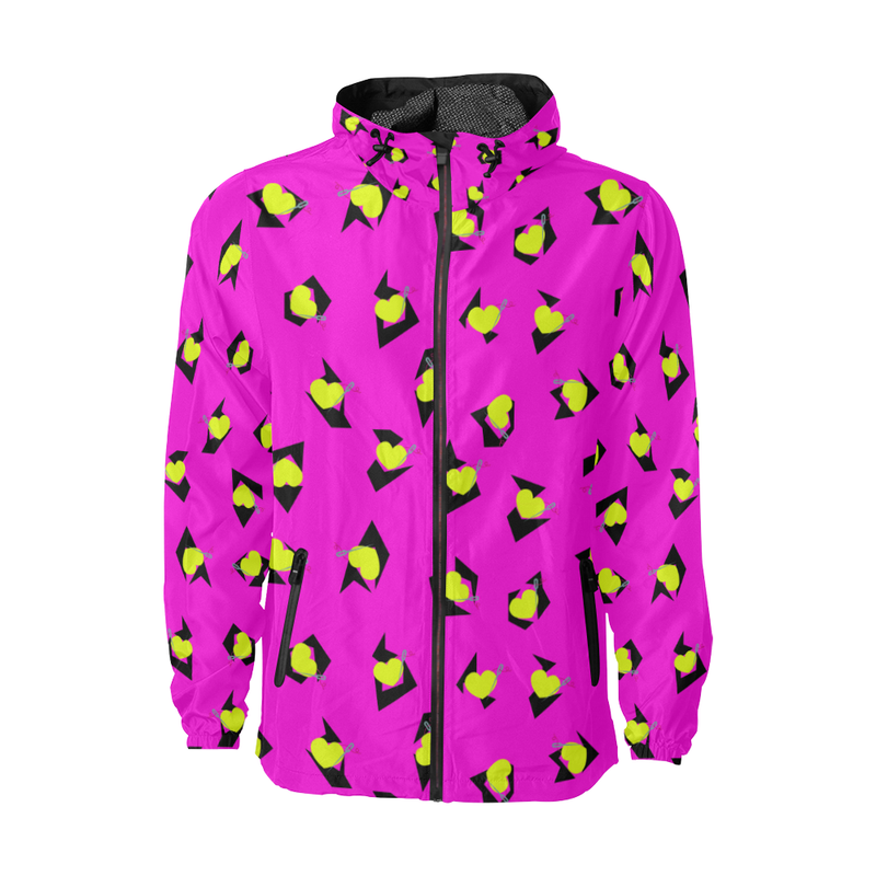 TOTALLY 80'S PINK FASHION WINDBREAKER