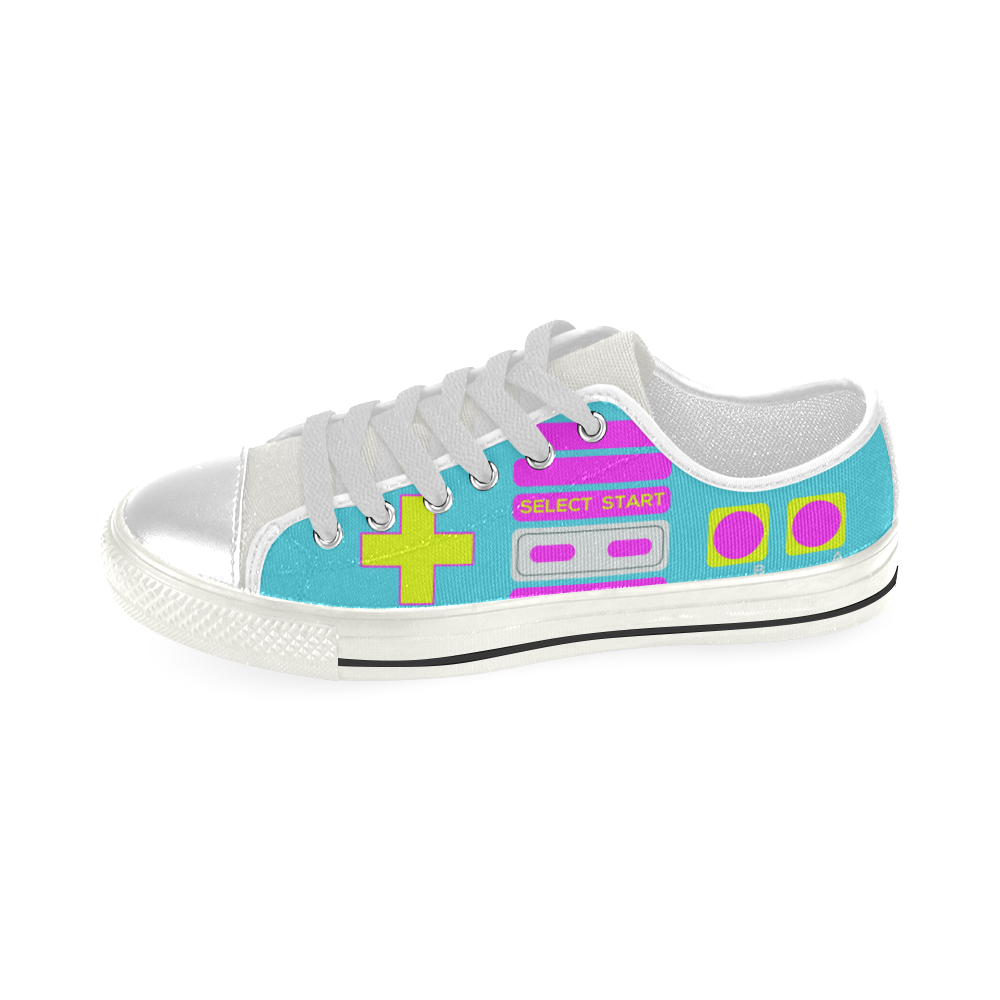 SHOE GAME LOW TOP CANVAS GIRLS' SNEAKERS (sz 6-12)