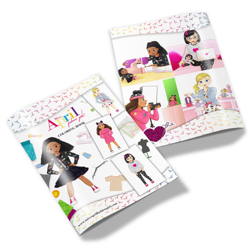 MISS APRIL FASHION GIRL COLORING BOOK