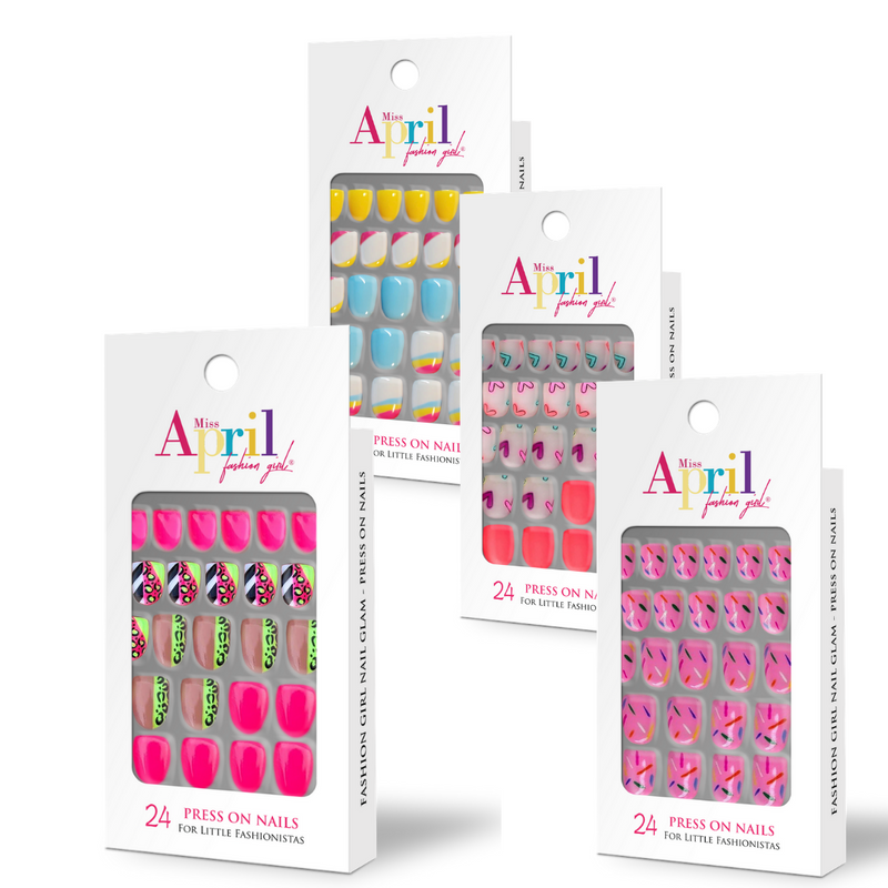 FASHION GIRL NAIL GLAM PRESS-ON COLLECTION