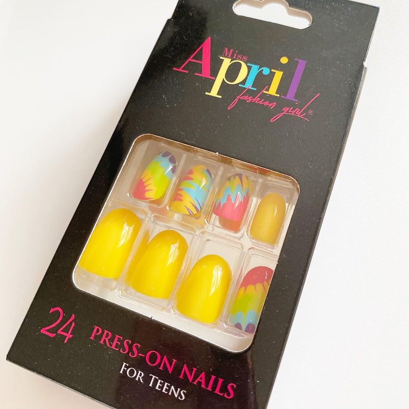 "FASHION GIRL ""TIE-DYE FOR"" PRESS- ON NAILS - TEEN SIZE"