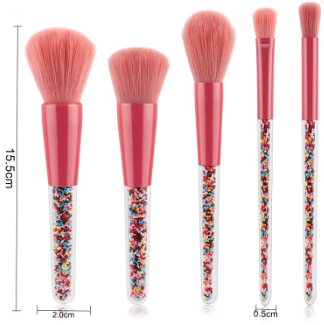 5 PIECE SPRINKLE MAKEUP BRUSH SET