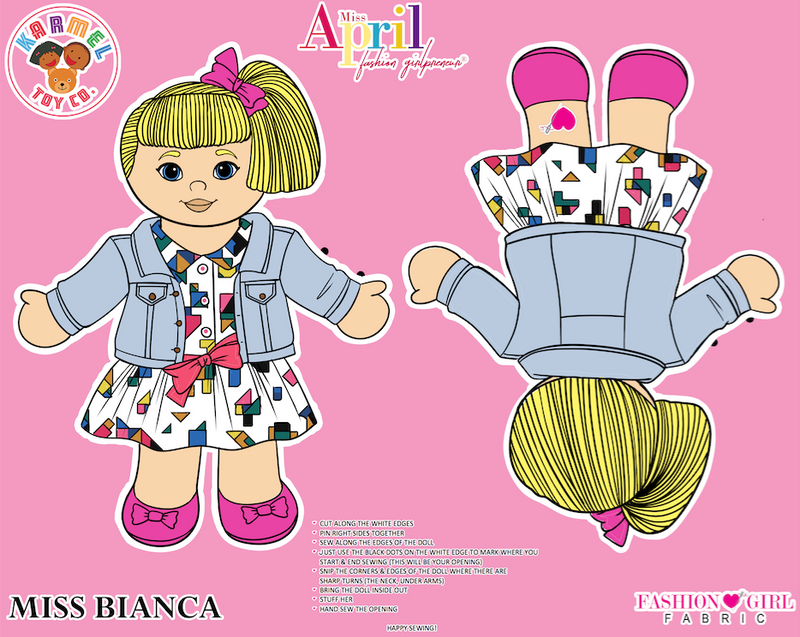 MISS BIANCA FASHION GIRL FABRIC PANEL