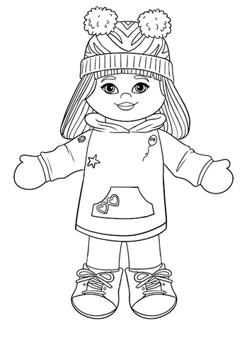 ***FREE DOWNLOAD*** Miss Camila Coloring Page