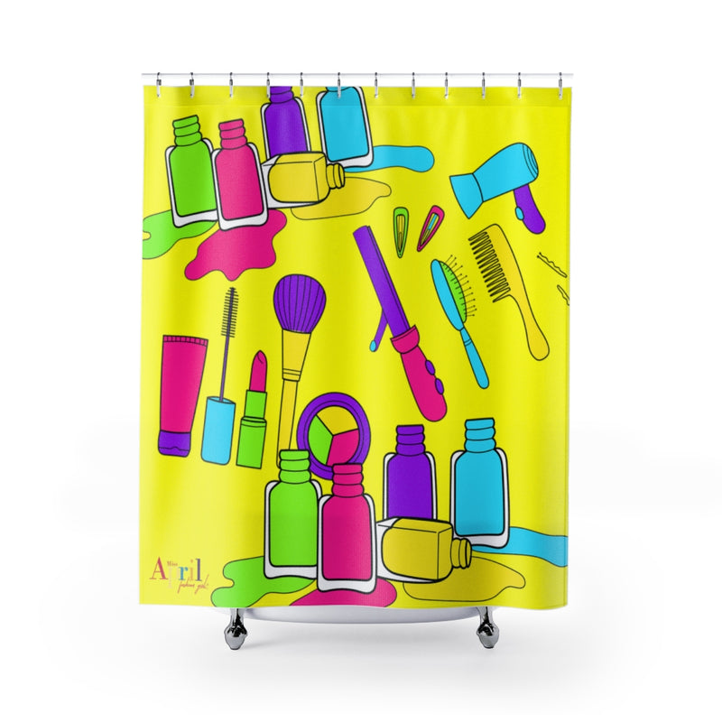 "BEAUTY MASH UP Shower Curtain 71""x74"""
