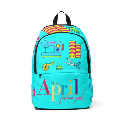SEW FANTASTIC NEON BLUE BACKPACK