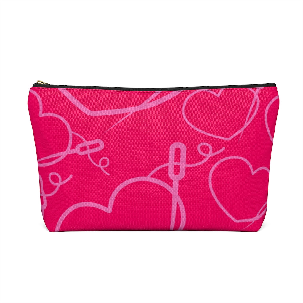 HEART AND NEEDLE MAKEUP POUCH