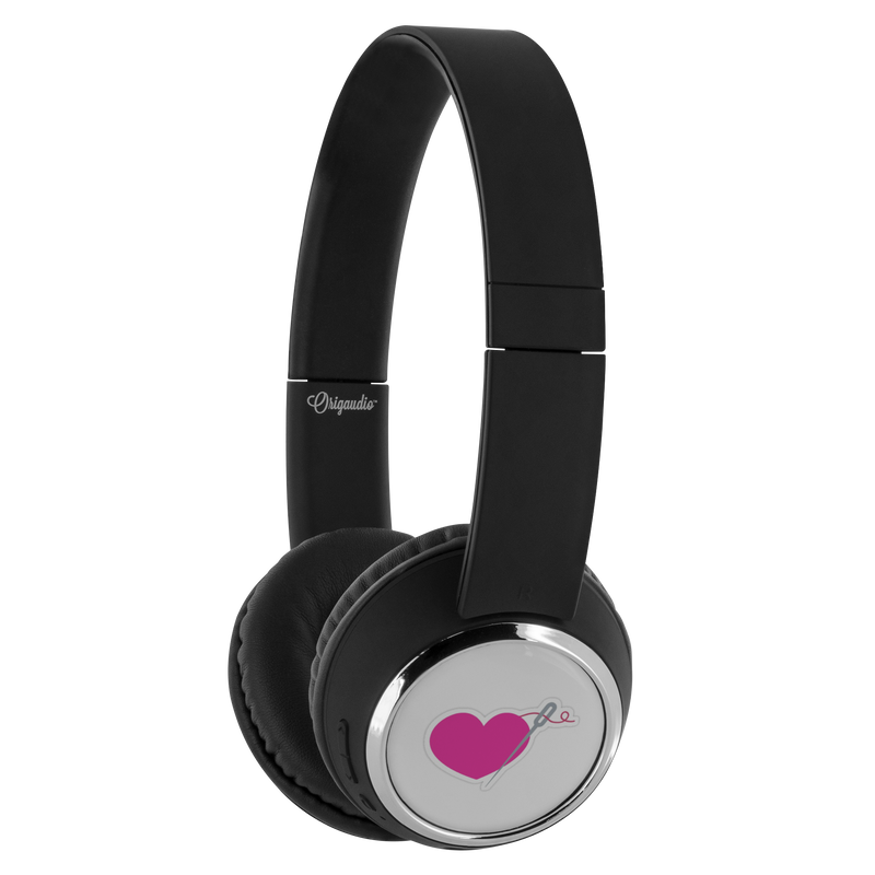HEART AND NEEDLE BLUETOOTH WIRELESS HEADPHONES