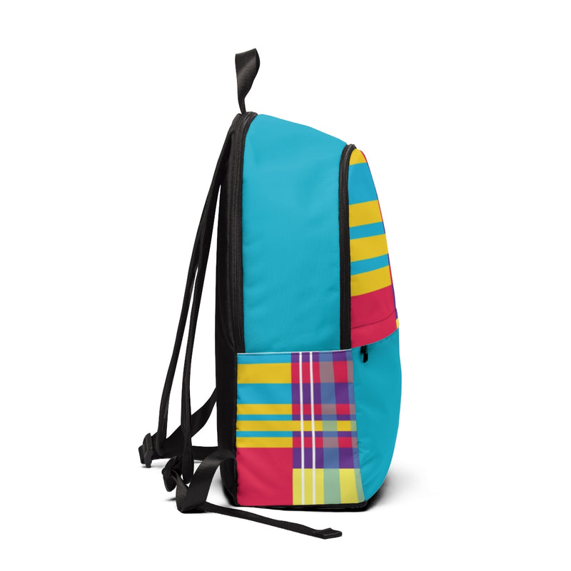 MERRY PLAID Backpack (teal)