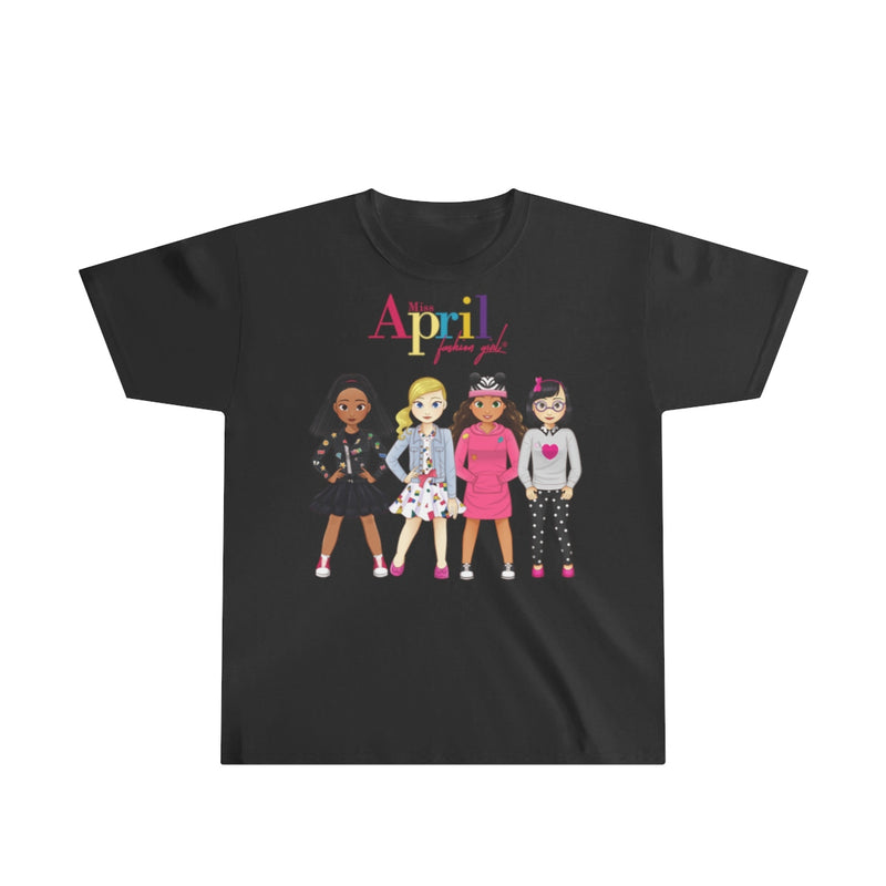 MISS APRIL FASHION GIRL Youth Ultra Cotton Tee (best fashion friends)