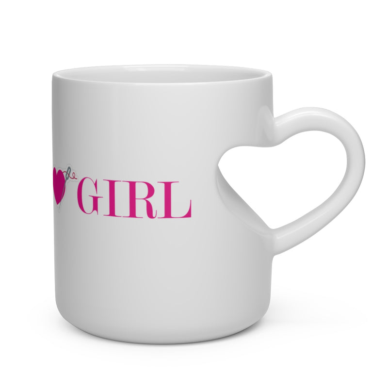 FASHION GIRL Heart Shape Mug