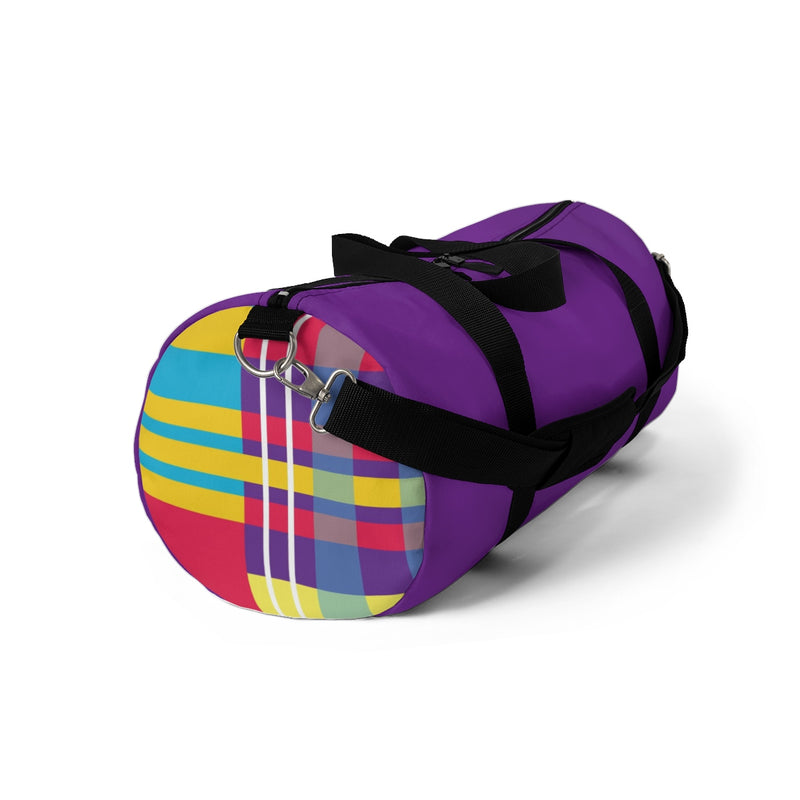 MERRY PLAID Duffel Bag (purple)