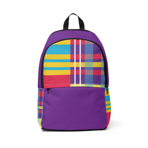 MERRY PLAID Backpack (purple)