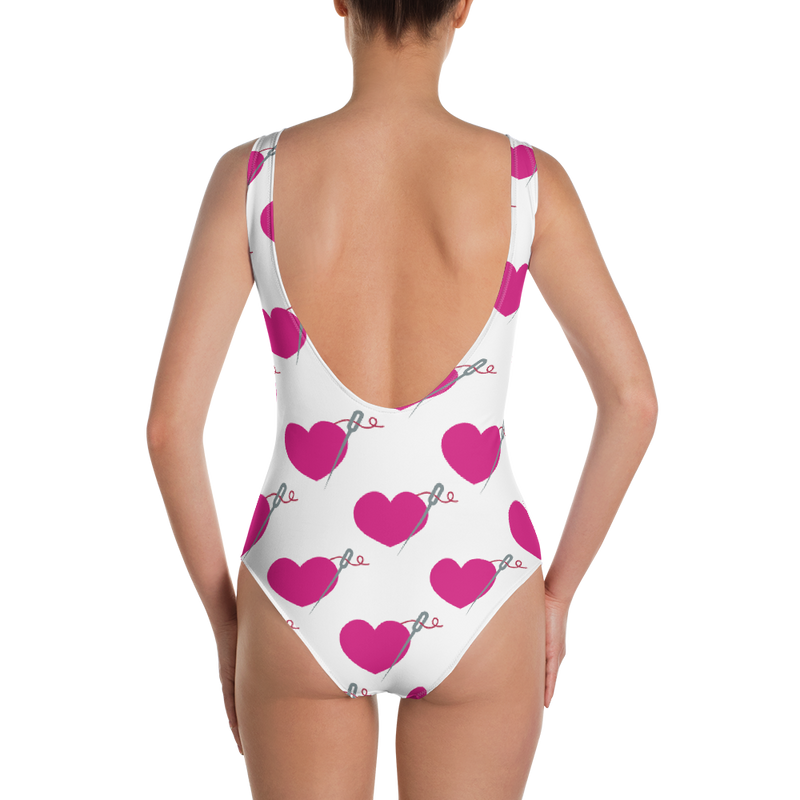 HEART AND NEEDLE MOMMY AND ME ONE PIECE SWIMSUIT