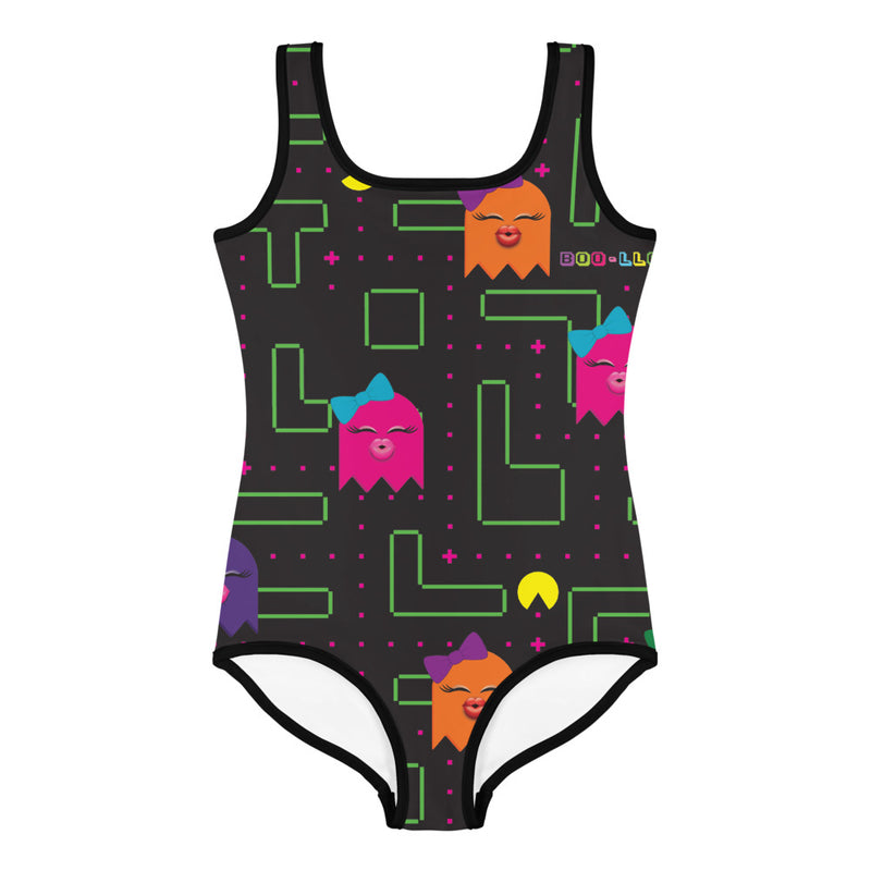 BOO-LLOWEEN LITTLE GIRLS SWIMSUIT