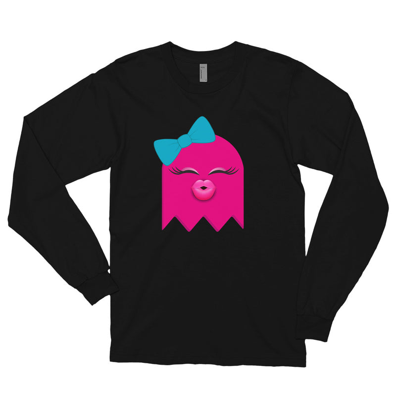 HEY BOO PINKY LONG SLEEVE T-SHIRT