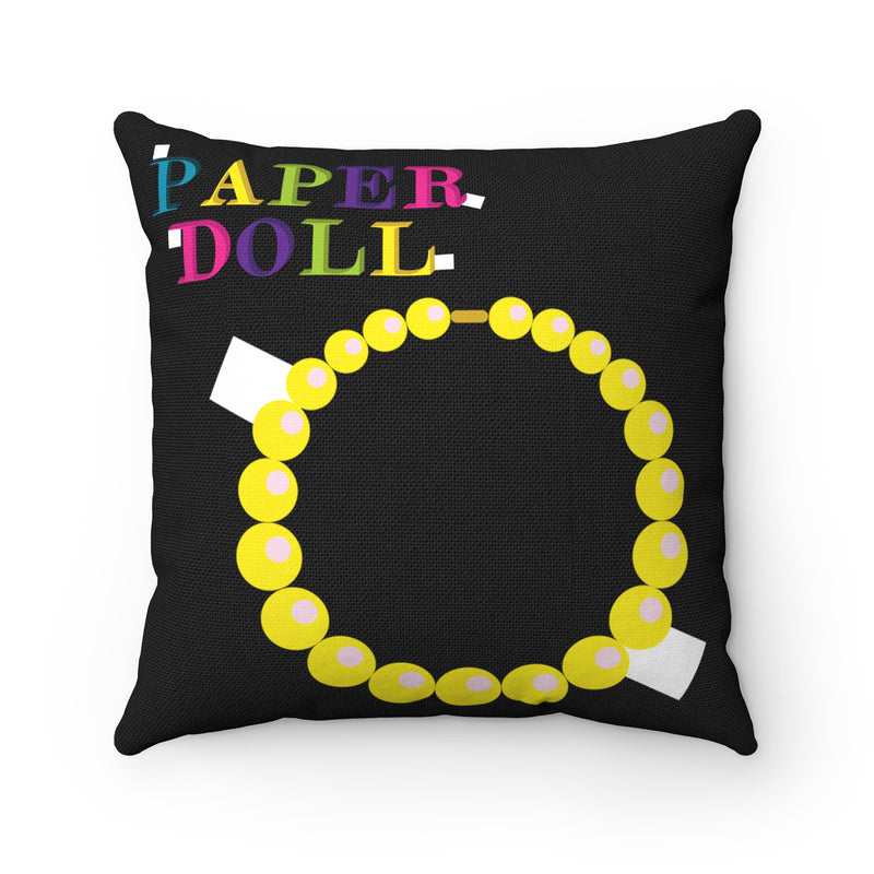 PAPER DOLL Square Pillow Case (necklace & purse)