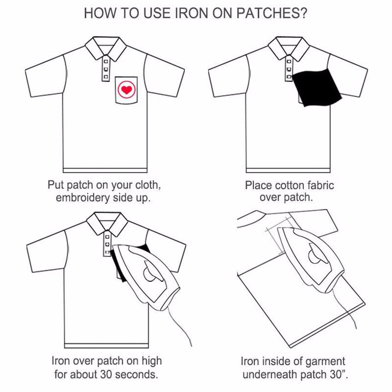 30pcs Fashion DIY Iron-On Patches For Clothing