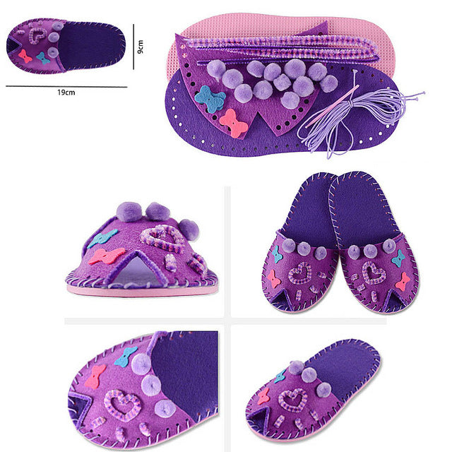 DIY Cute Peep-toe Slipper Sewing Kit