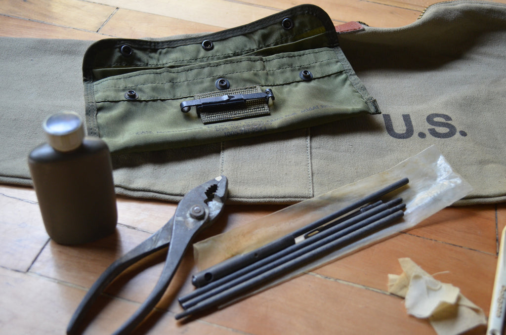 Vintage Rifle Case and Gun Cleaning Kit