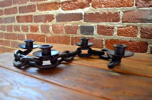 Iron Chain 4 Candle Holder